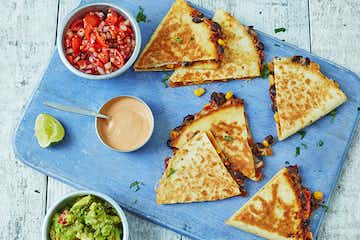 Bean & Sweetcorn Quesadilla