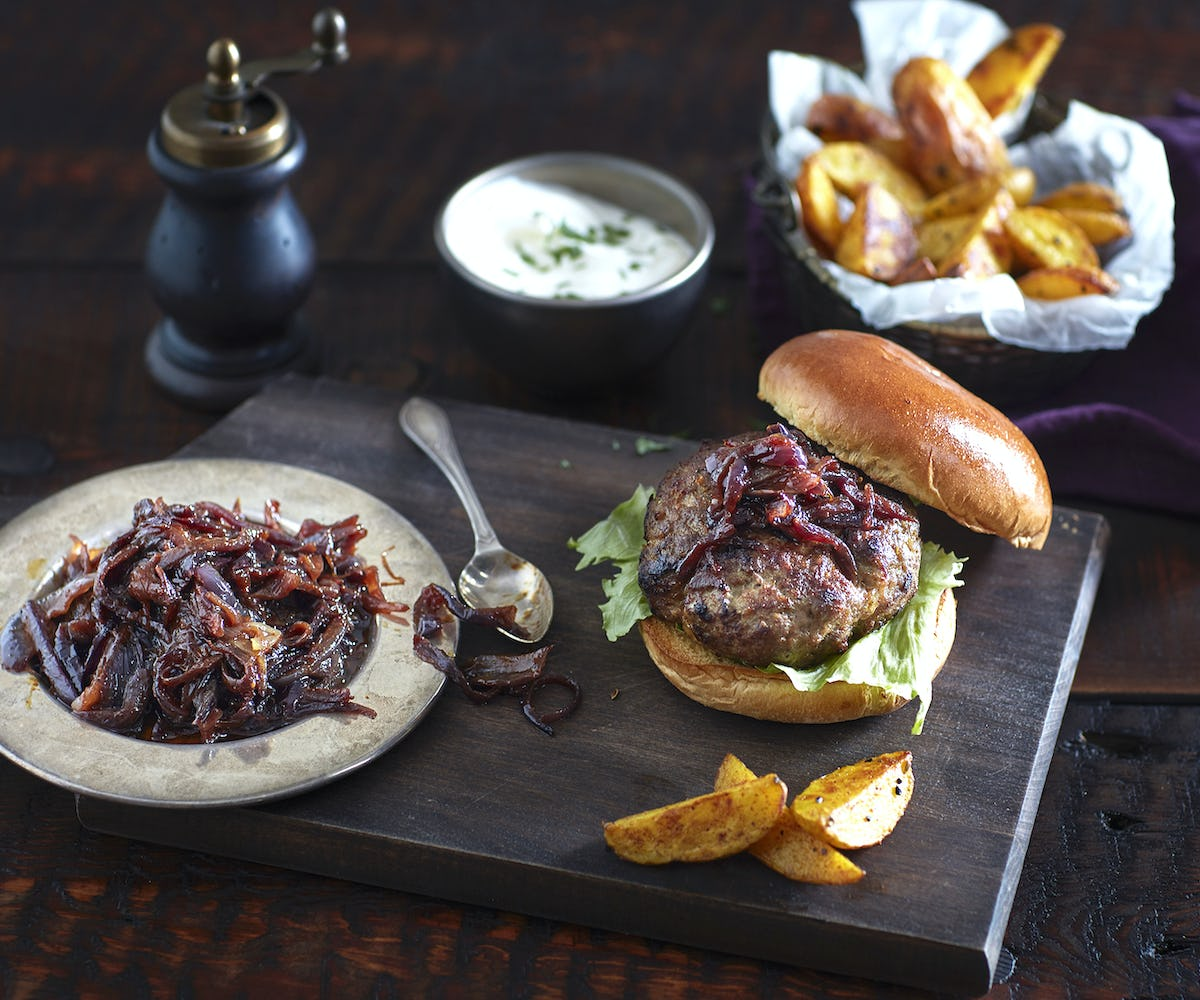 Indian Spiced Lamb Burgers