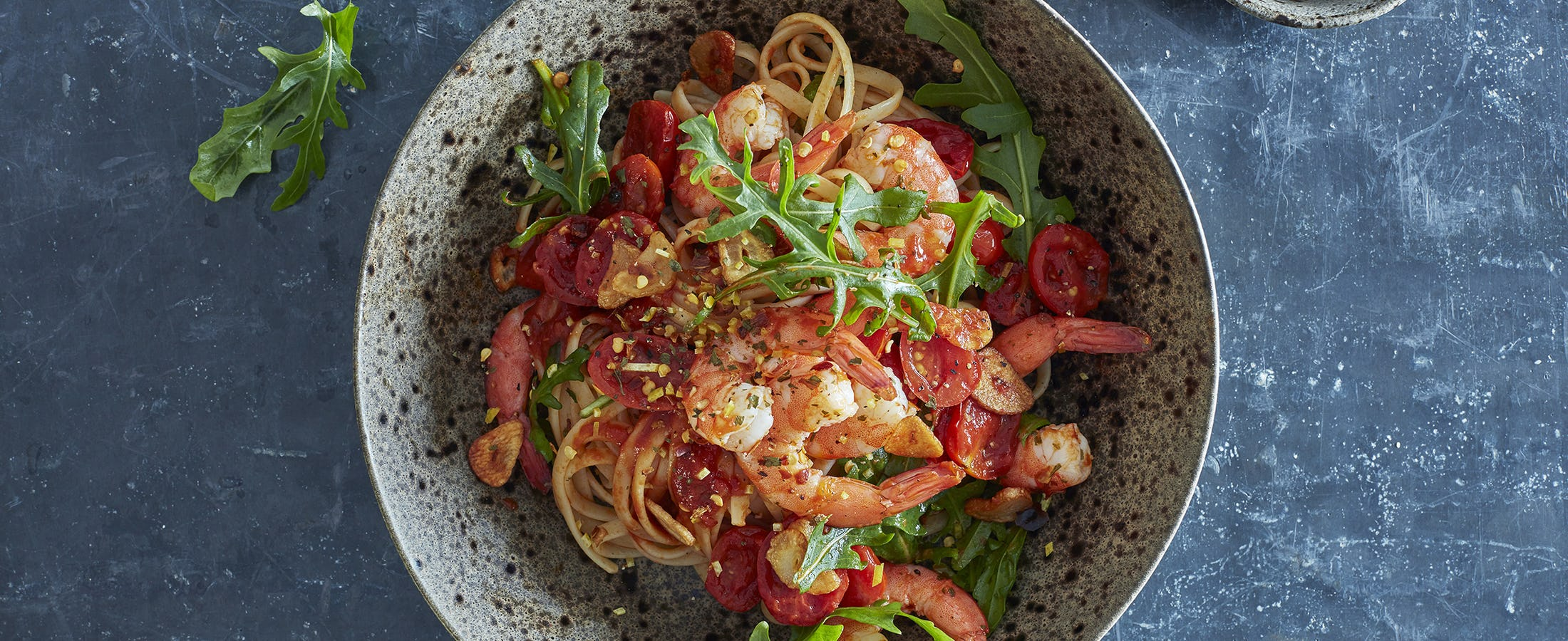 Linguine with Prawns and Rocket
