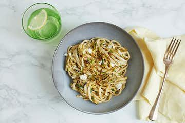 Linguine with Courgette