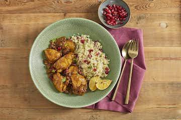 Moroccan Chicken with Pomegranate Molasses
