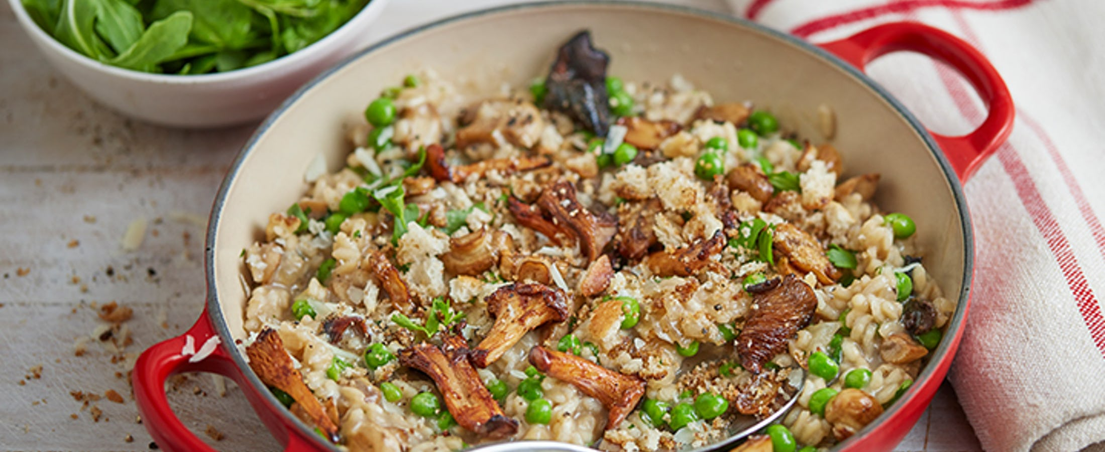 Mushroom & Pea Risotto